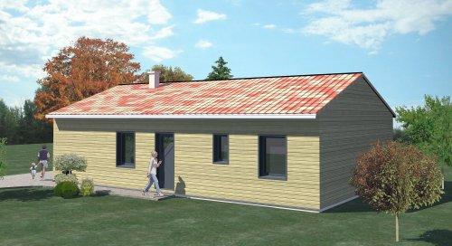 Construction 86 fr plan maison ossature bois plain pied for Prix construction maison plain pied 80m2