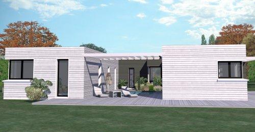 ConstructionFr  Plan Maison T Plain Pied De M   Chambres