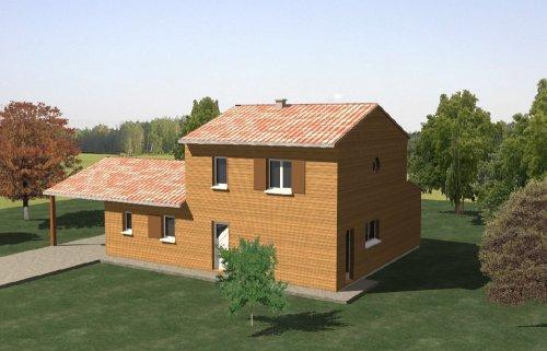 construction 86 fr plans pour maison tage de type ossature bois dans la vienne 86. Black Bedroom Furniture Sets. Home Design Ideas