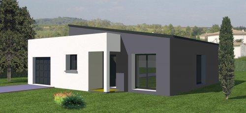CONSTRUCTION-86.FR > Plan maison contemporaine de plain pied 77.43 ...