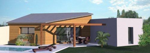 CONSTRUCTIONFR Plan Maison Contemporaine De M²TModèle - Plan maison moderne 3 chambres