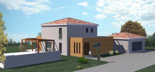 Plan Maison à étage De 186 M²   5 Chambres