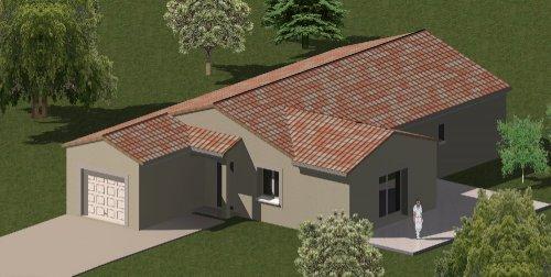 plan maison traditionnelle plain pied 122 m 3 chambres