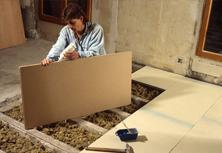 Construction 86 fr l 39 isolation des planchers dans la for Isolation sol garage sans vide sanitaire
