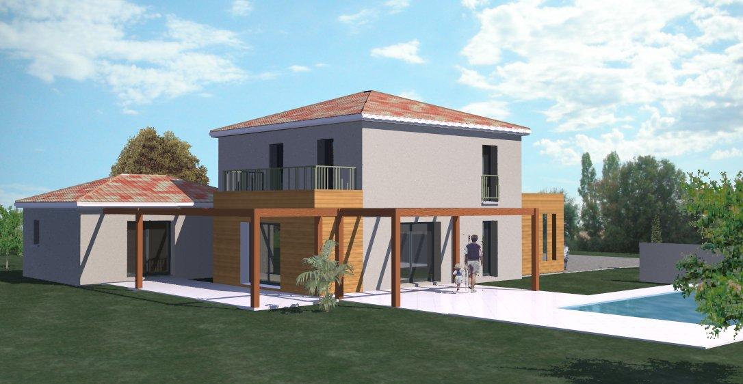 plan maison etage 170m2